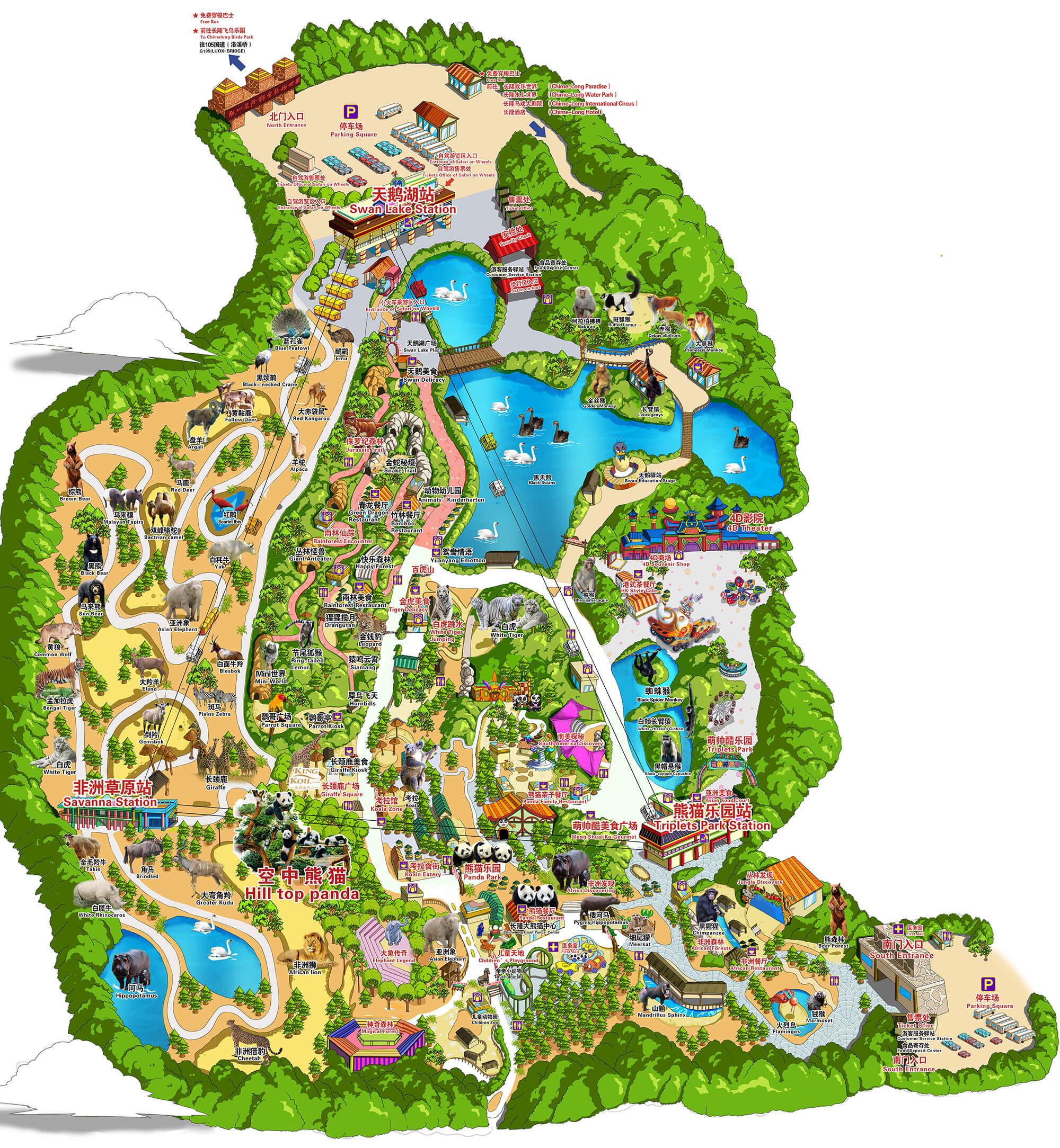 度假区地图 广州长隆度假区官方网站
